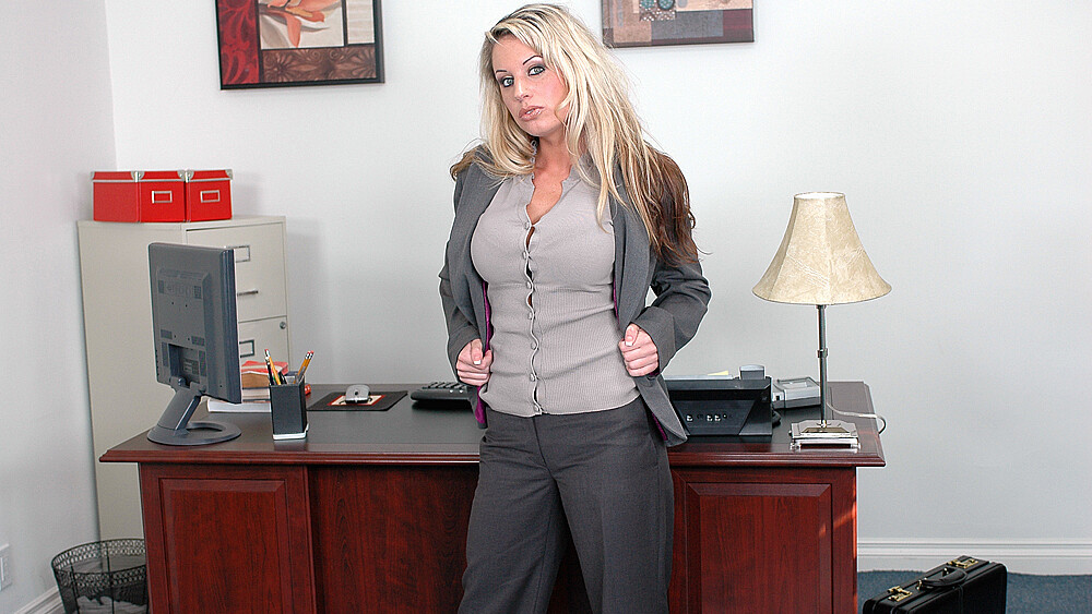 Tessa West fucking in the office with her tits