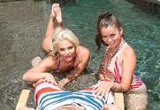 Phoenix Marie, Allie Haze & Johnny Castle in 2 Chicks Same Time - Sex Position 1