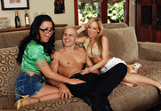 August & Eva Angelina & Ben English in 2 Chicks Same Time