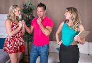 Harley Jade & Mia Malkova & Johnny Castle in 2 Chicks Same Time