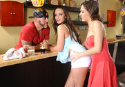 Teal Conrad & Lily Love & Derrick Pierce in 2 Chicks Same Time story pic