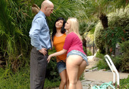 Roxy Deville, Alexis Texas & Christian in 2 Chicks Same Time - Sex Position 1