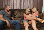 Tasha Reign & Sarah Vandella & Karlo Karrera in 2 Chicks Same Time