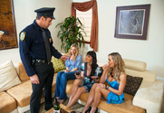 Julia Ann, Brandi Love, Eva Karera & Johnny Castle in My Friends Hot Mom - Sex Position 1
