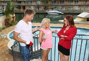 Diamond Foxxx, Marsha May & Levi Cash in My Friends Hot Mom - Sex Position 1
