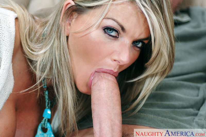 Porn star Mrs. Vette #7 giving a blowjob