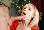 Nina Hartley & Alec Knight in My Friend's Hot Mom sex pic