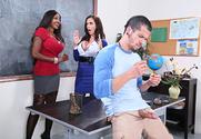 Ariella Ferrera & Diamond Jackson & Bambino in My First Sex Teacher