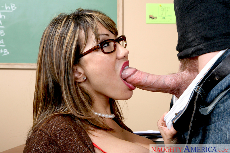Porn star Ava Devine 2 giving a blowjob