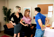 Demi Delia, Bridgett Lee & Mikey Butders in My First Sex Teacher - Sex Position 1