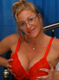 MILF & Professor Porn Video with Big Fake Tits and Blonde scenes