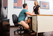 Brandi Love & Nicole Aniston & Ryan Driller in My First Sex Teacher story pic
