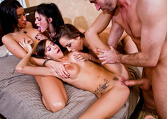 Kristina Rose, Ann Marie Rios, Andy San Dimas, April O'Neil & James Deen in My Sisters Hot Friend - Centerfold