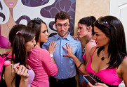 Andy San Dimas & Ann Marie Rios & April O'Neil & Kristina Rose & James Deen in My Sister's Hot Friend story pic