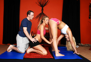 Alexis Texas, Bree Barrett & Trent Soluri in Naughty Athletics - Sex Position 1