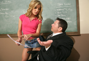 Amy Brooke & John Strong in Naughty Bookworms story pic