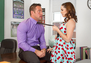 Jenna J Ross & Johnny Castle in Naughty Bookworms - Sex Position 1