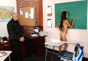 Alexis Love, Kayla Synz & Ben English in Naughty Bookworms - Sex Position 1