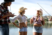 Sadie Swede, Briana Blair & Rocco Reed in Naughty Country Girls - Sex Position 1
