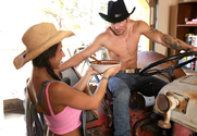 Rachel Roxxx & Joey Brass in Naughty Country Girls - Sex Position 1