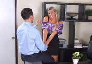 Abbey Brooks & Mikey Butders in Naughty Office - Sex Position 1