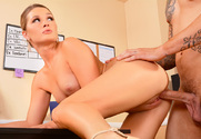 Abby Cross & Clover in Naughty Office - Sex Position 2