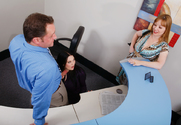 Cassandra Calogera, Alayna Dior & Alec Knight in Naughty Office - Sex Position 1