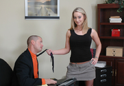 Aline & Eric Masterson in Naughty Office - Sex Position 1