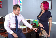 Anna Bell Peaks  & Johnny Castle in Naughty Office - Sex Position 1
