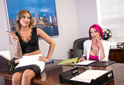 Anna Bell Peaks & Juelz Ventura & Ryan Driller in Naughty Office story pic