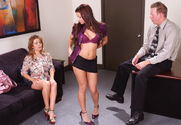 Sienna West, Ann Marie Rios & Mark Wood in Naughty Office - Sex Position 1