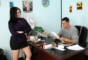 Daphne Rosen & Chris Strokes in Naughty Office - Sex Position 1