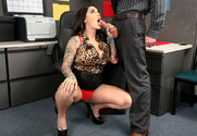 Darling Danika & Richie Black in Naughty Office - Sex Position 2