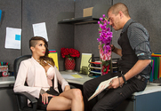 Kayla Carrera & Xander Corvus in Naughty Office - Sex Position 1