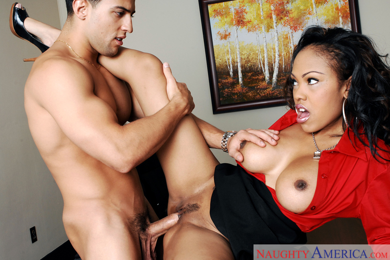 Porn star Lacey DuValle giving a blowjob