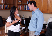 London Keyes & Charles Dera in Naughty Office - Sex Position 1