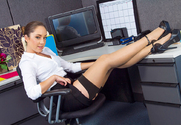 Remy LaCroix & Johnny Castle in Naughty Office story pic
