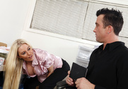 Riley Evans & Billy Glide in Naughty Office - Sex Position 1