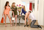 Nicole Aniston & Nikki Benz & Phoenix Marie & Mark Wood in Naughty Rich Girls story pic
