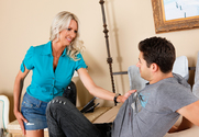 Emma Starr & Giovanni Francesco in Seduced by a cougar - Sex Position 1