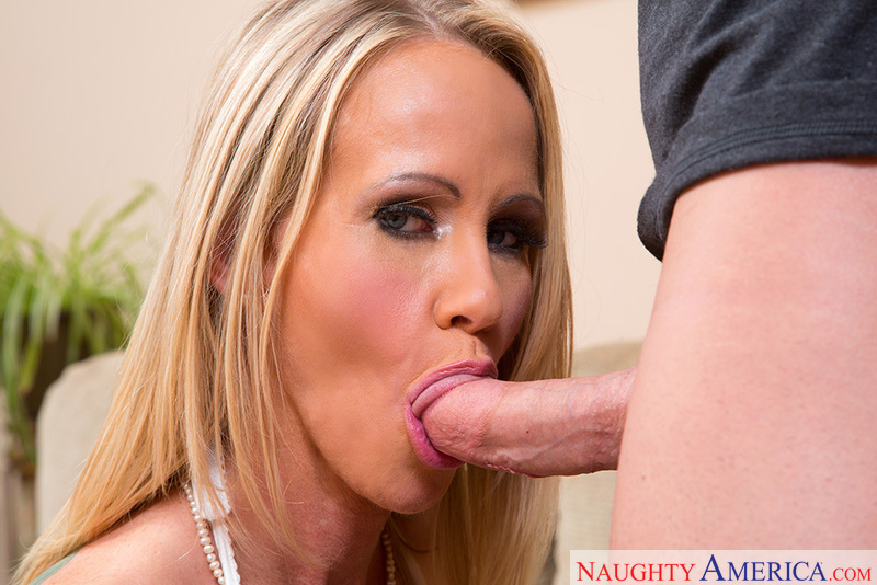 Porn star Simone Sonay giving a blowjob