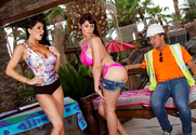 Eva Karera & Romi Rain & Van Wylde in Wives on Vacation story pic