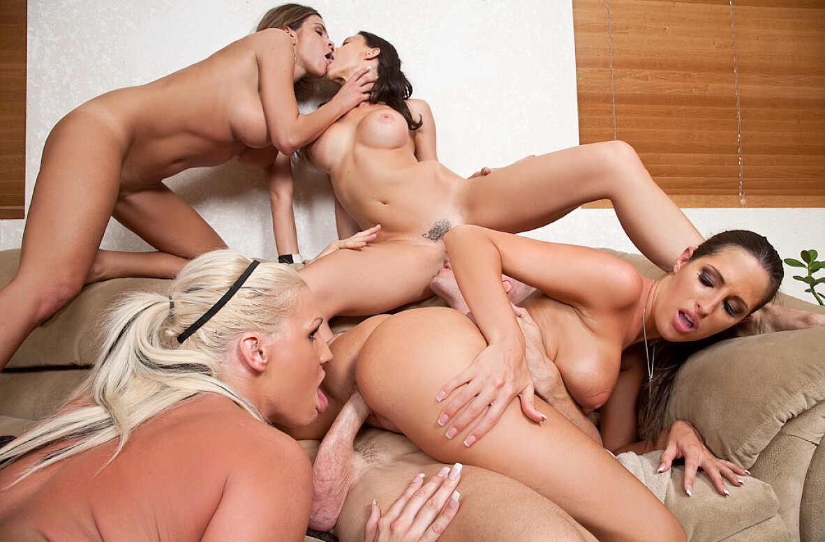 Watch Chanel Preston, Hunter Bryce, Kortney Kane, Sadie Swede and Johnny Sins video in 2 Chicks Same Time