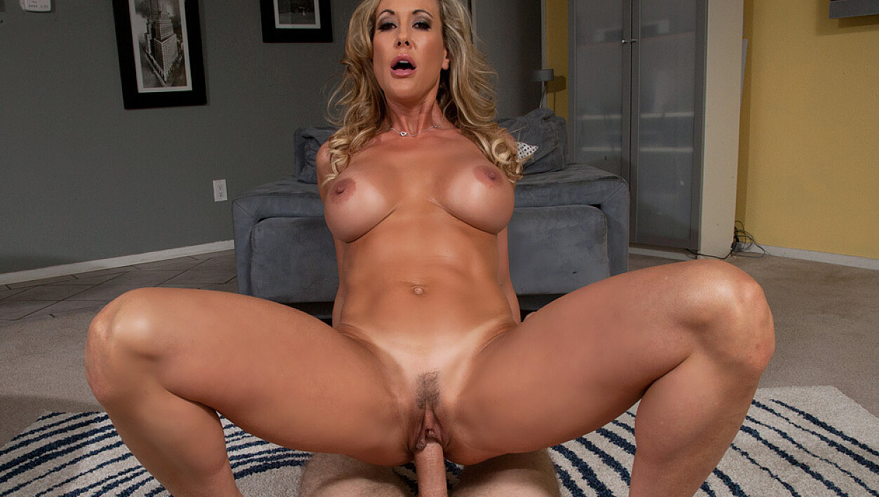 Wife Brandi Love fucking in the chair with her big tits