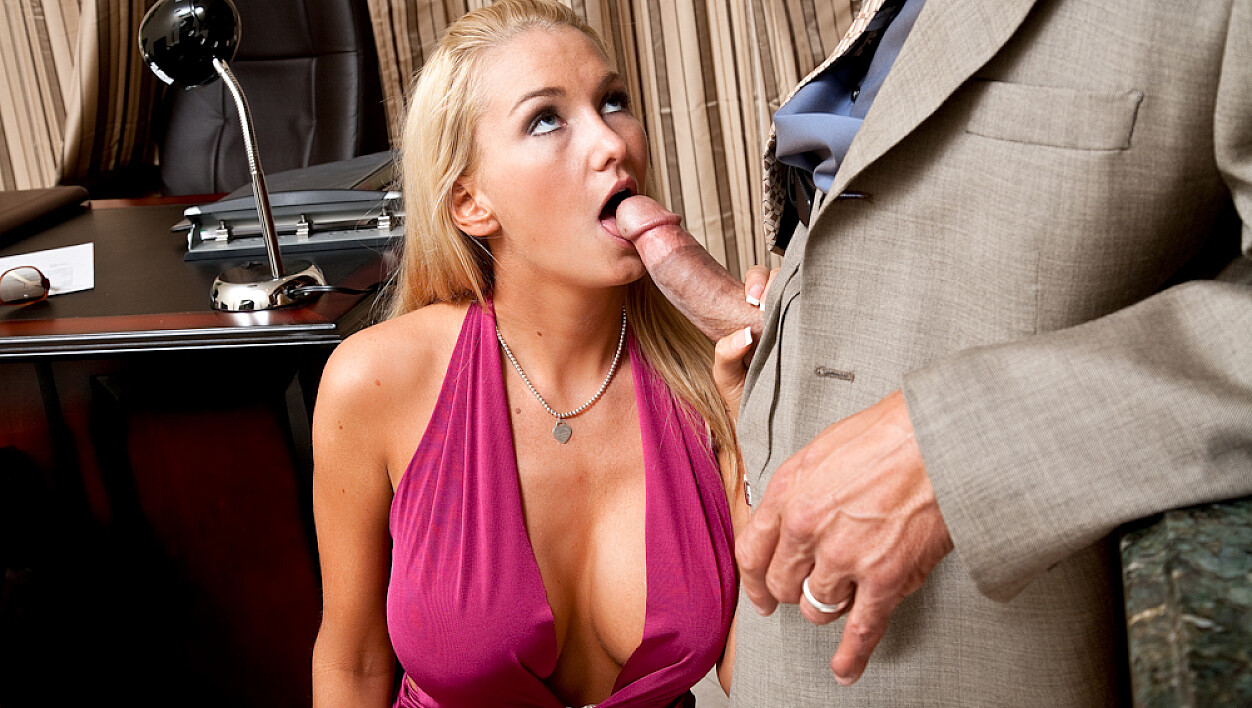Client Blake Rose fucking in the office with her big tits