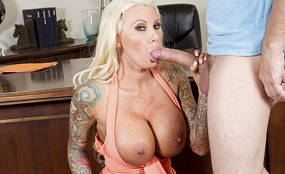 Bad girl Lolly Ink fucking in the office with her tits - Sex Position #3