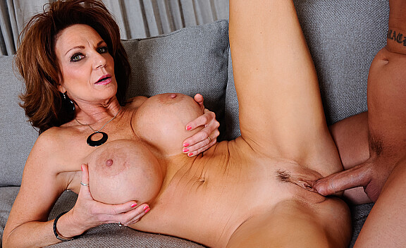 Deauxma fucking in the couch with her big tits - Sex Position #10