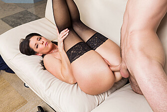 India Summer shows her son's friend how to fuck a MILF - Sex Position 3