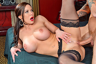 Kendra Lust fucking in the bed with her tits - Sex Position 1