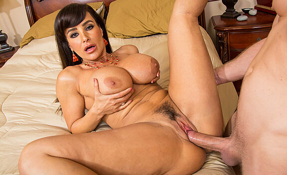 Lisa Ann fucking in the bedroom with her big ass - Sex Position #6